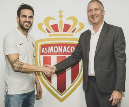 Chelsea midfielder, Cesc Fabregas completes switch to Monaco and will wear Jersey 44 (Photos)