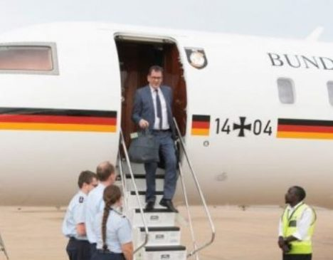 German minister, Gerd Mueller stranded in Zambia after plane breaks down