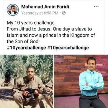 Former jihadist's 10 year challenge which saw him convert from Islam to Christianity generates mixed reactions