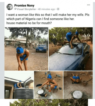Photos: Nigerian man is searching for this kind of 'wife material' to marry