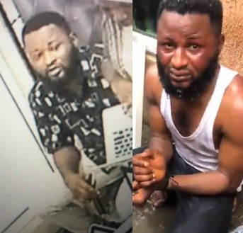 Video: The laptop thief that was caught on camera in computer village Ikeja  stealing laptops has been apprehended