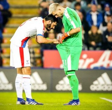 Photos of Crystal Palace defender and goalkeeper that are causing a stir onlin