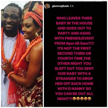 Nollywood Gossip: Gbenro Ajibade calls out his wife, Osas, on Instagram. suggesting she is a prostitute ?