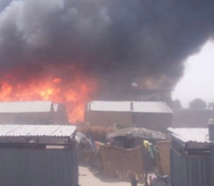 Photos: Children burnt to death as fire guts IDP camp in Borno state