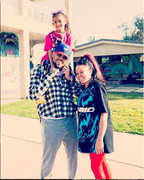 'Most important women in my life' – Singer, Chris Brown says as he shares adorable photo with his mom and daughter