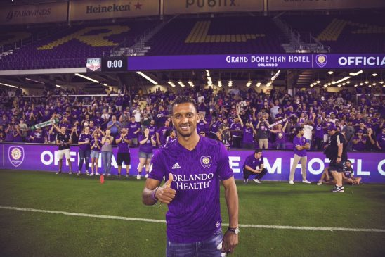 Ex-Man.U star Nani receives hero welcome at his unveiling to Orlando City fans in the US (Photos)
