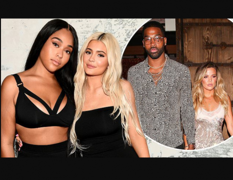 Jordyn Woods 'blames her kiss with Tristan Thompson on being blackout drunk as she begs Kylie Jenner and Khloe Kardashian for forgiveness'