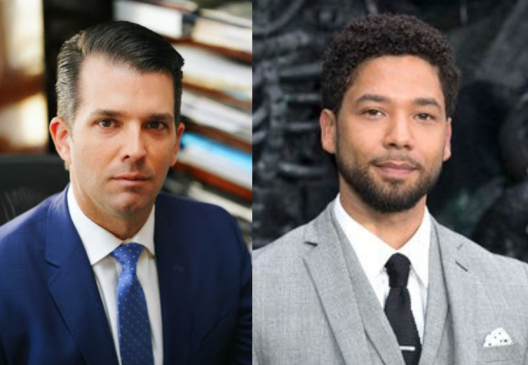 Donald Trump's son reacts to new evidence suggesting Jussie Smollett orchestrated attack on him