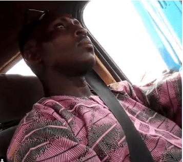 Hain! Commercial bus driver in Lagos caught on camera masturbating
