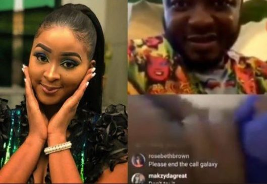 (Video 18+)Shocking: Actress, Etinosa goes completely naked on MC Galaxy's Instagram live video, says 'Toyin Lawani is my inspiration'