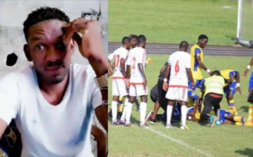 30year old striker, Herman Tsinga dies after collapsing during a Gabonese league match