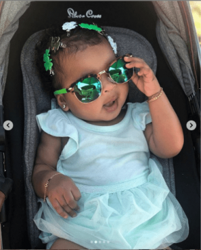 Khloe Kardashian shares adorable photos of her daughter True as she celebrates first St. Patrick's Day