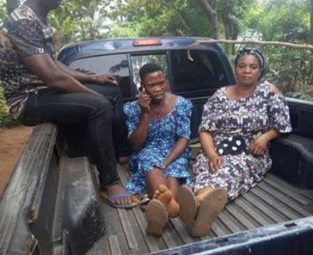 Woman and her accomplice arrested for selling the 2-day-old baby of her 13-year-old sister for N300k in Enugu State