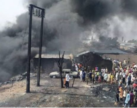 10 people burnt beyond recognition In Gombe State as petrol tanker collides with truck