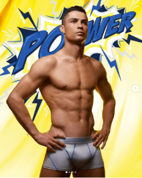 Cristiano Ronaldo shows off his eggplant as he models his new CR7 underwear range (Photos)