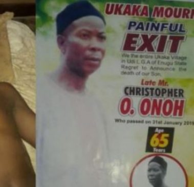 First son kills his dad for refusing to sell his land to sponsor him abroad (Photo)