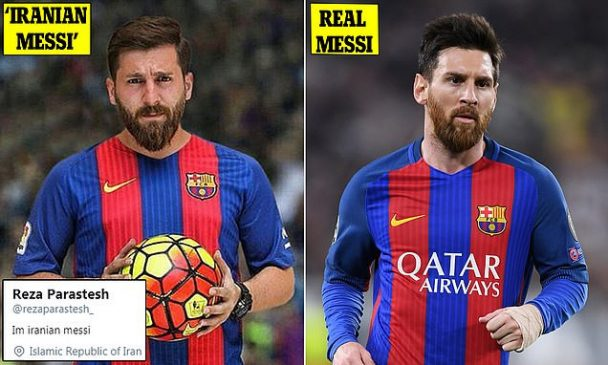 See the self-styled 'Iranian Messi' accused of sleeping with 23 women by pretending to be the world's best player (Photos
